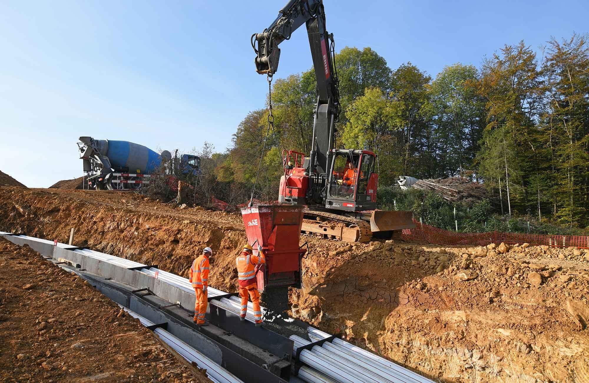 Swissgrid Übergangsbauwerk Nord Gäbihübel